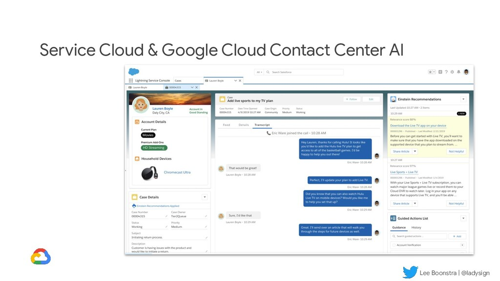 Lee Boonstra | @ladysign Service Cloud & Google...