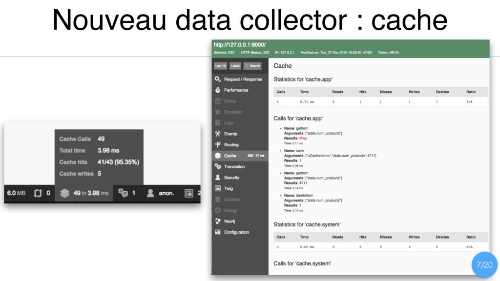 Nouveau data collector : cache 7/20