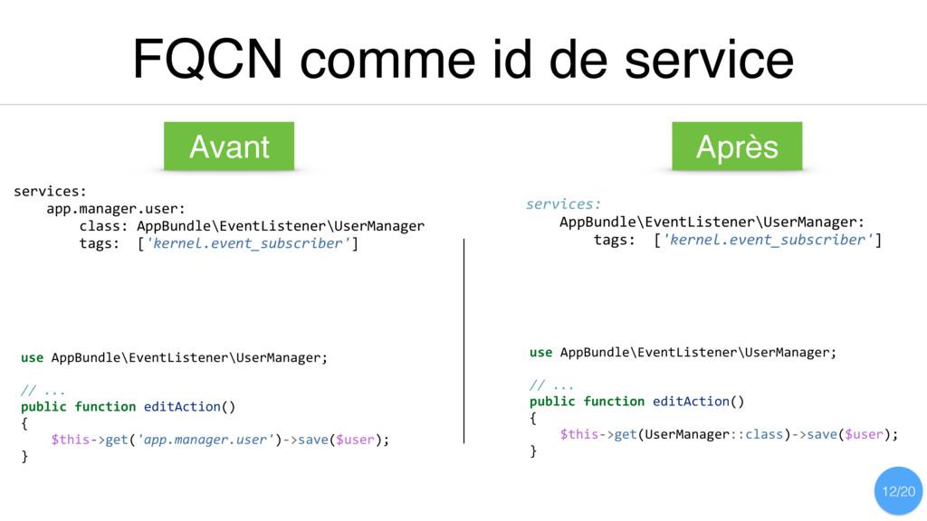 FQCN comme id de service services: app.manager....