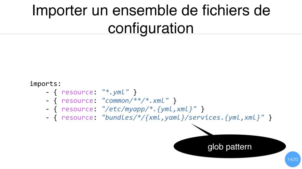 Importer un ensemble de fichiers de configuration...