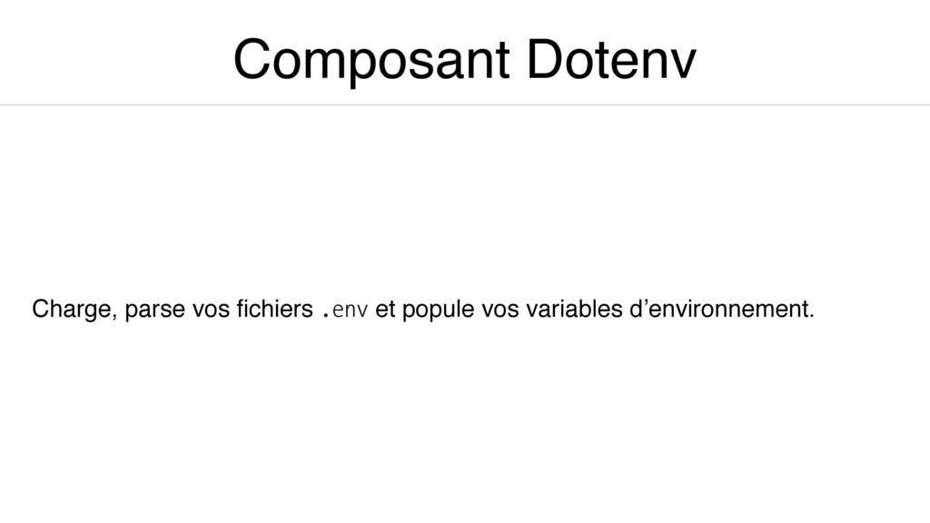 Composant Dotenv Charge, parse vos fichiers .env...
