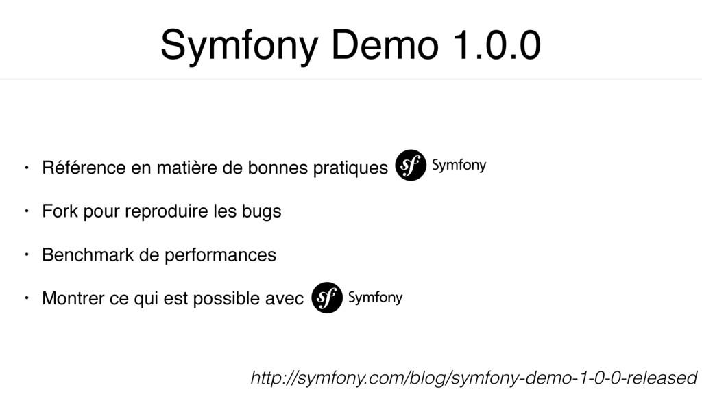 Symfony Demo 1.0.0 • Référence en matière de bo...