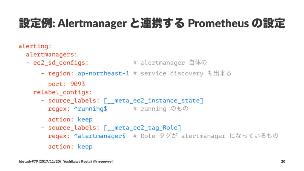 ઃఆྫ: Alertmanager ͱ࿈ܞ͢Δ Prometheus ͷઃఆ alerting...