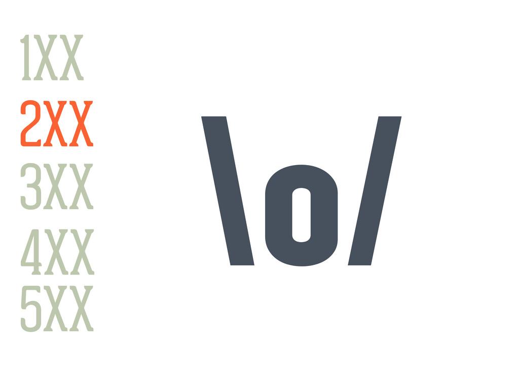 1XX 3XX 4XX 2XX 5XX \o/ 1XX
