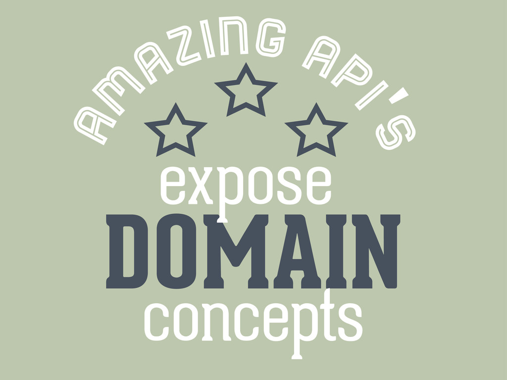 am azing ap i's DOMAIN concepts expose