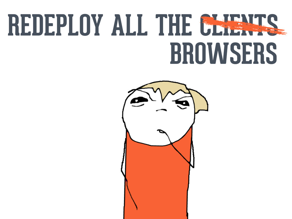 REDEPLOY ALL THE CLIENTS BROWSERS