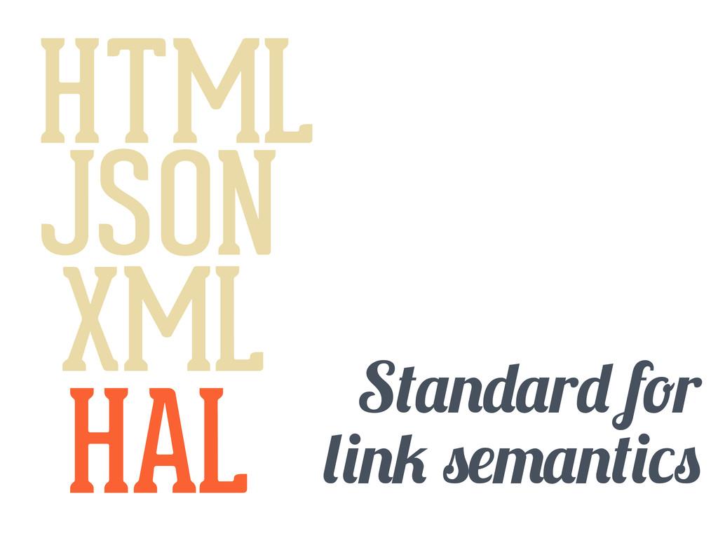 HTML JSON XML HAL S r f r