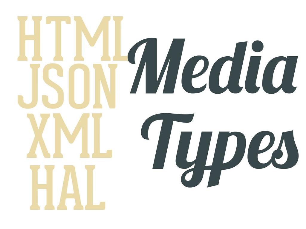 HTML JSON XML HAL M T