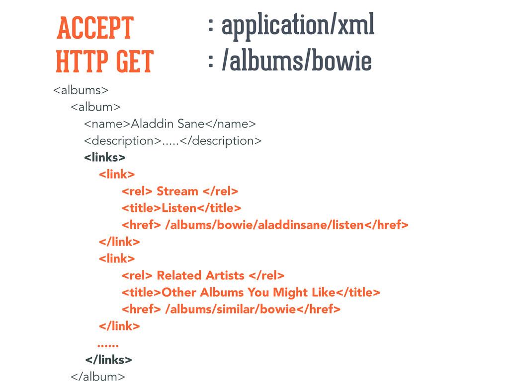 <albums> <album> <name>Aladdin Sane</name> <des...