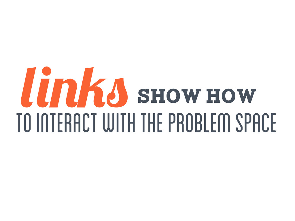 to interact with the problem space show how