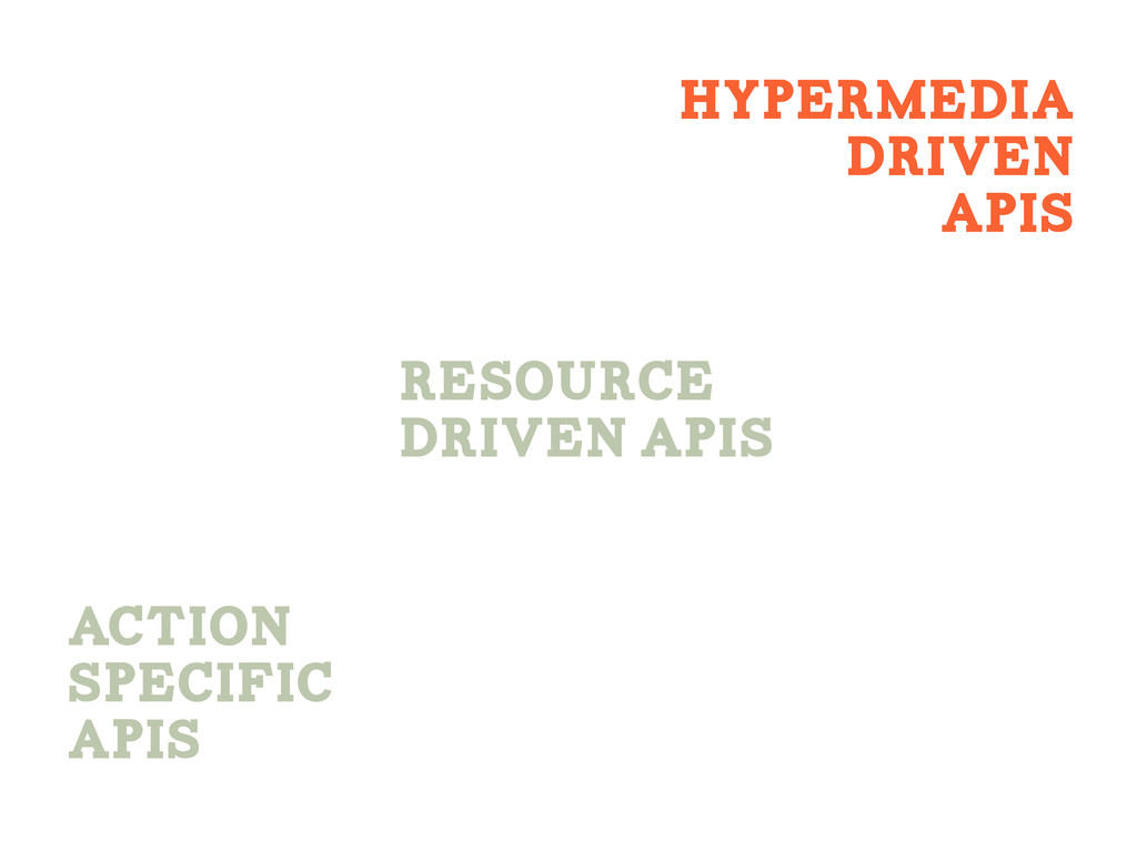 ACtion Specific APIS Hypermedia Driven APIS Res...