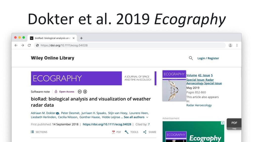 Dokter et al. 2019 Ecography