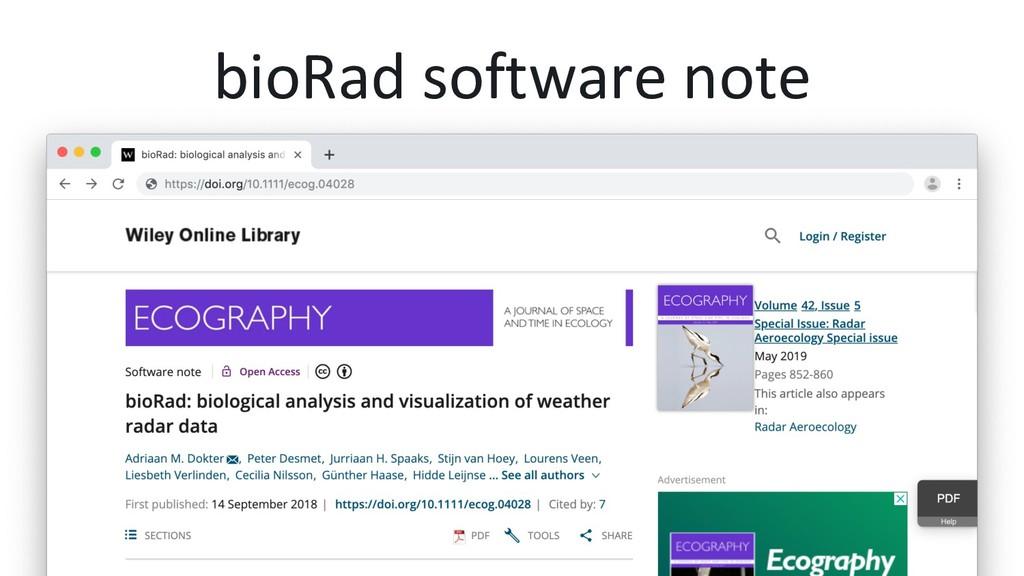 bioRad software note