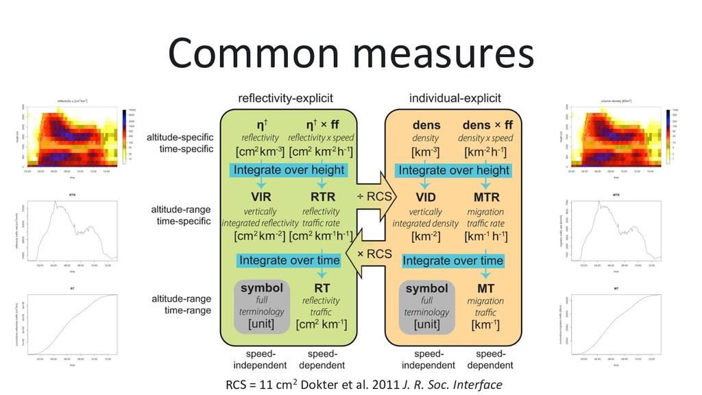 Common measures RCS = 11 cm2 Dokter et al. 2011...