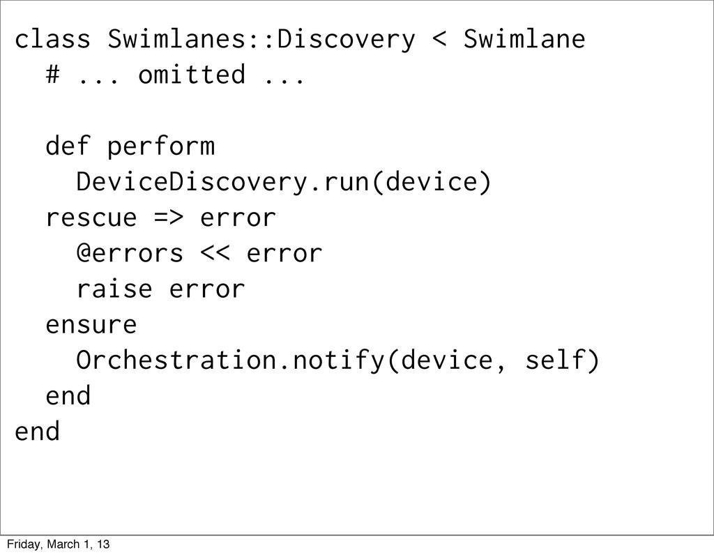 class Swimlanes::Discovery < Swimlane # ... omi...