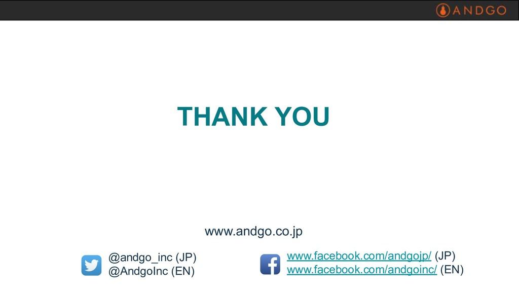 www.andgo.co.jp www.facebook.com/andgojp/ (JP) ...
