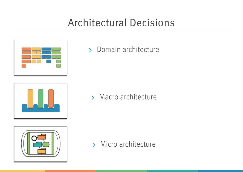 Architectural Decisions Domain architecture Mac...