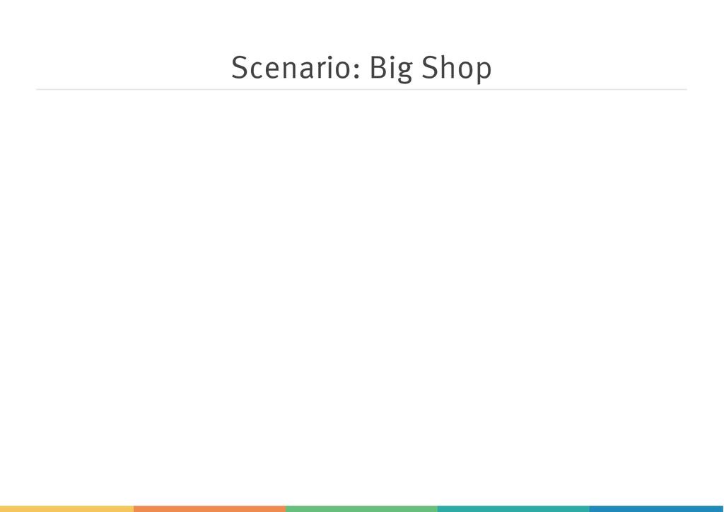 Scenario: Big Shop