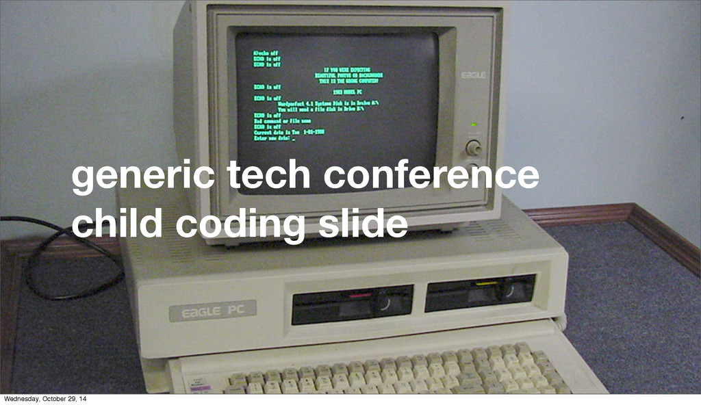generic tech conference child coding slide Wedn...