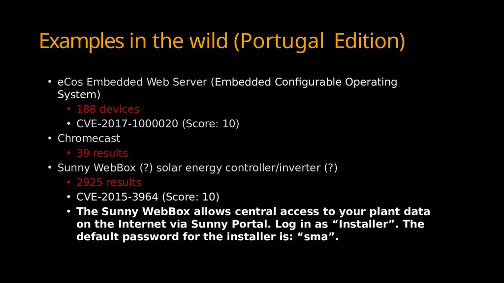 Examples in the wild (Portugal Edition) • eCos ...