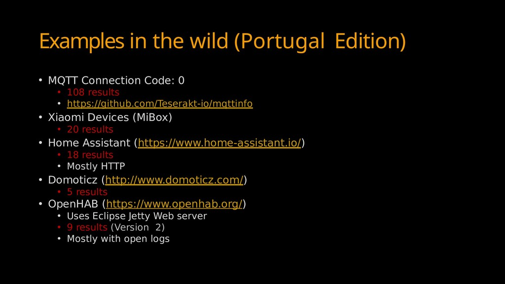 Examples in the wild (Portugal Edition) • MQTT ...