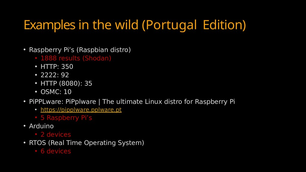 Examples in the wild (Portugal Edition) • Raspb...