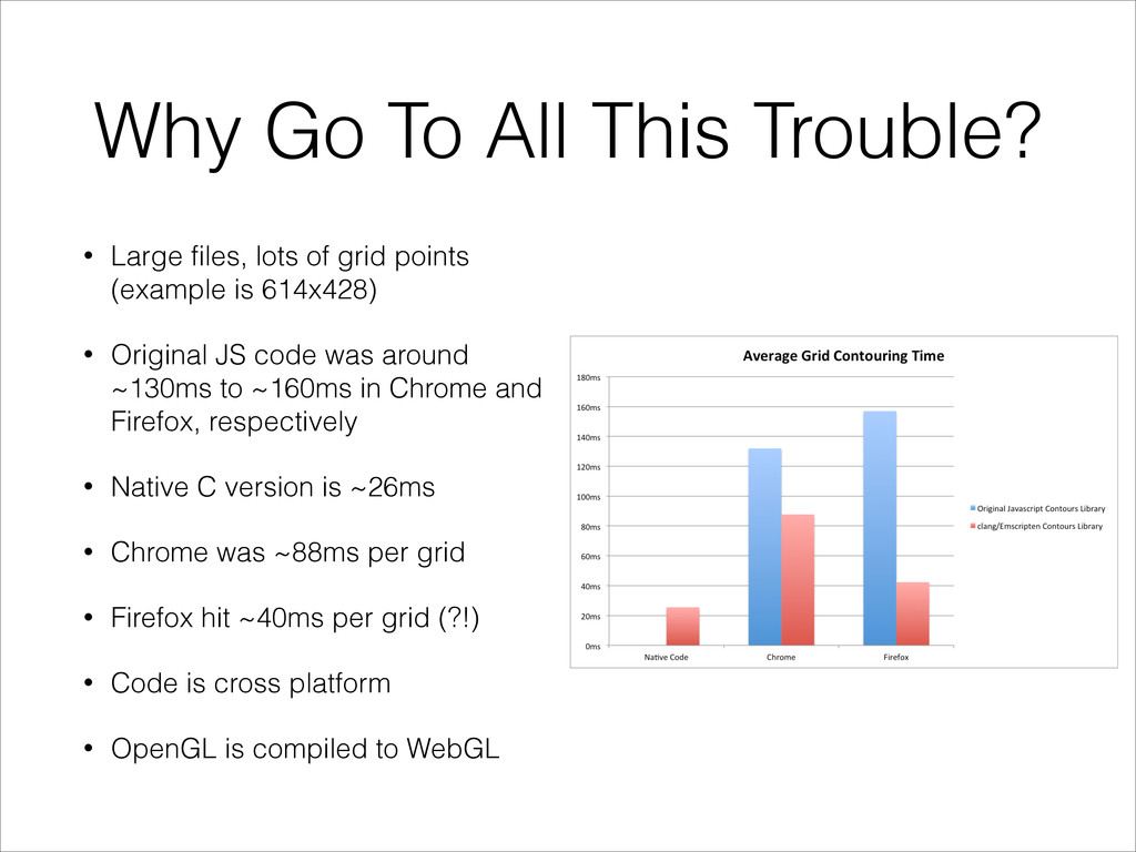 Why Go To All This Trouble? • Large files, lots...