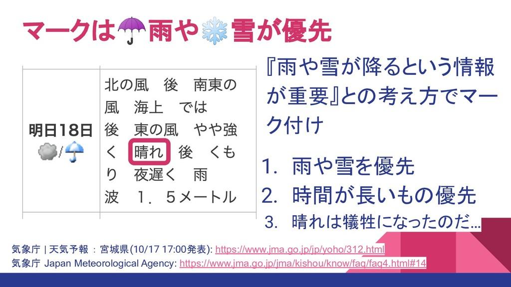 気象庁 | 天気予報 : 宮城県(10/17 17:00発表): https://www.jm...