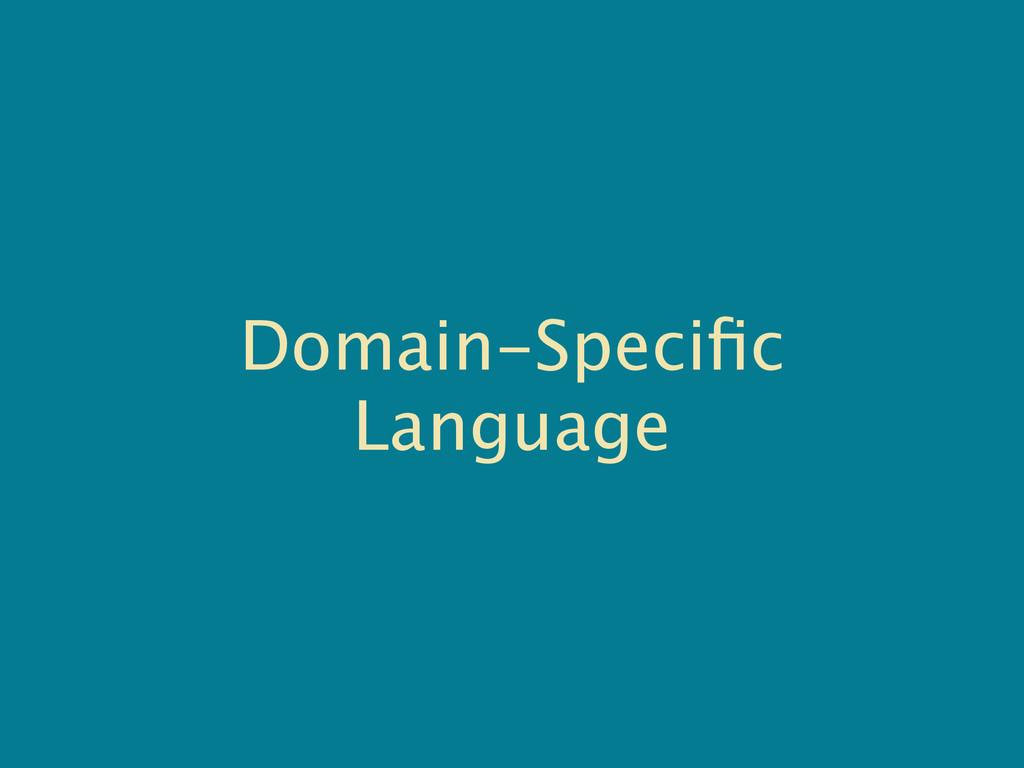 Domain-Specific Language