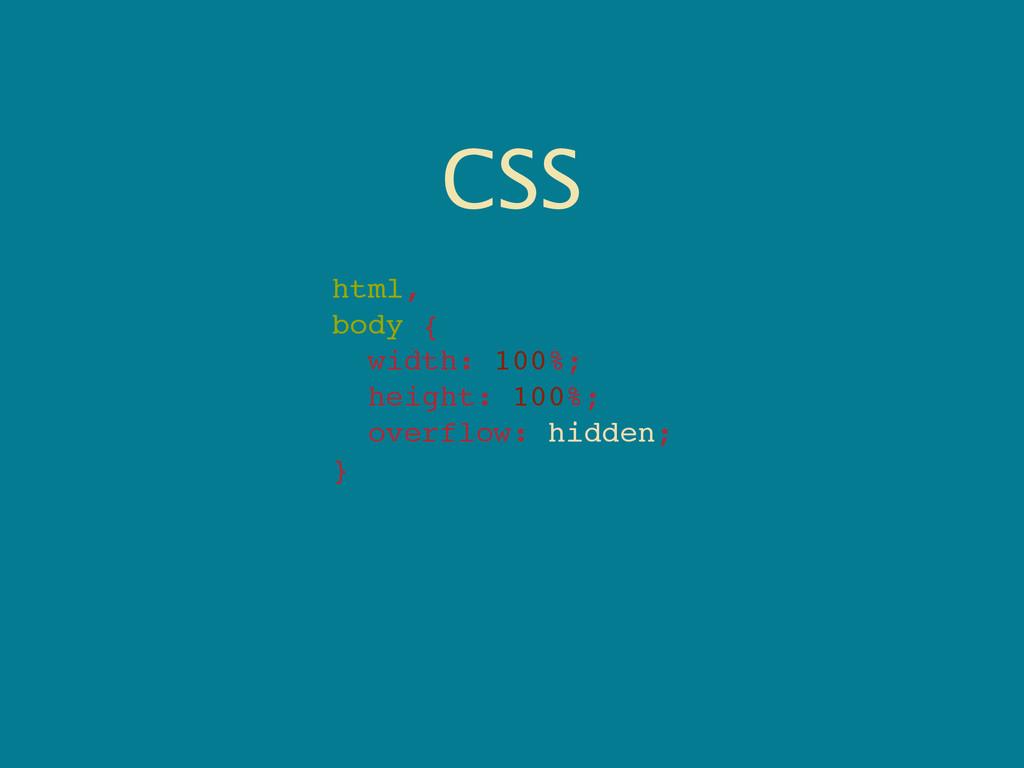 CSS html, body { width: 100%; height: 100%; ove...