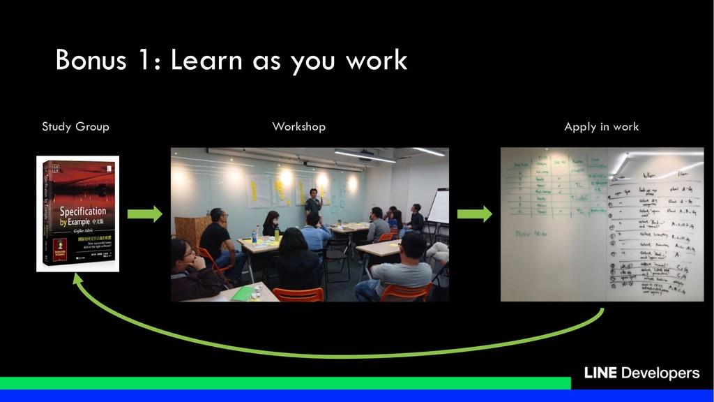 Bonus 1: Learn as you work Study Group Workshop...