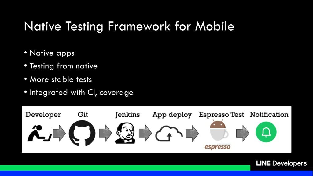 Native Testing Framework for Mobile • Native ap...