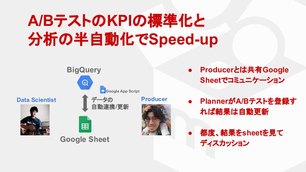 A/BテストのKPIの標準化と 分析の半自動化でSpeed-up BigQuery Googl...