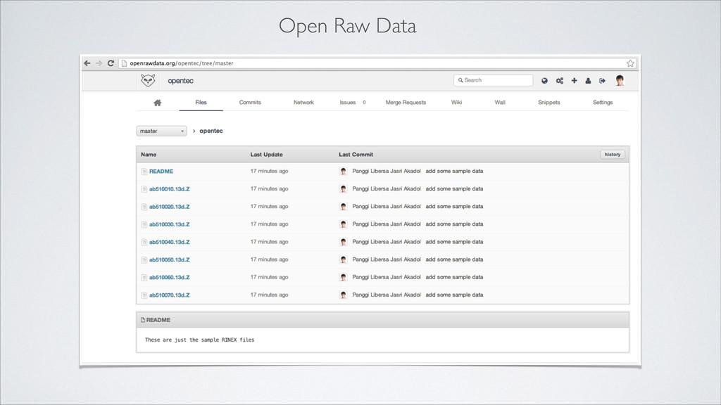 Open Raw Data