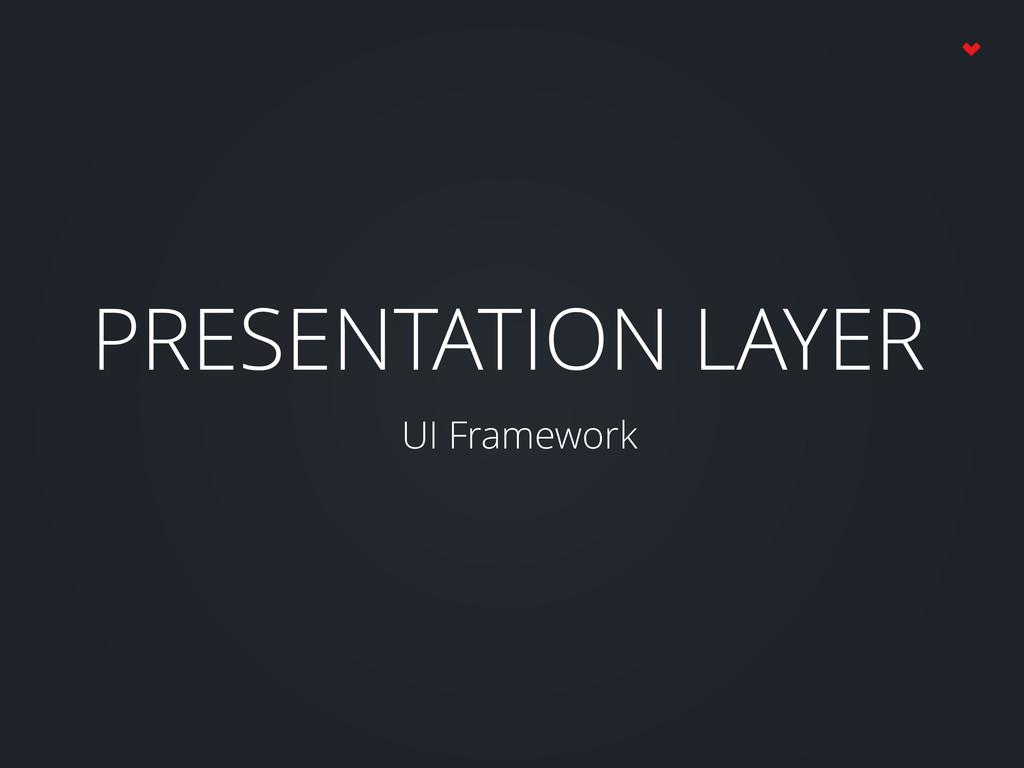PRESENTATION LAYER UI Framework