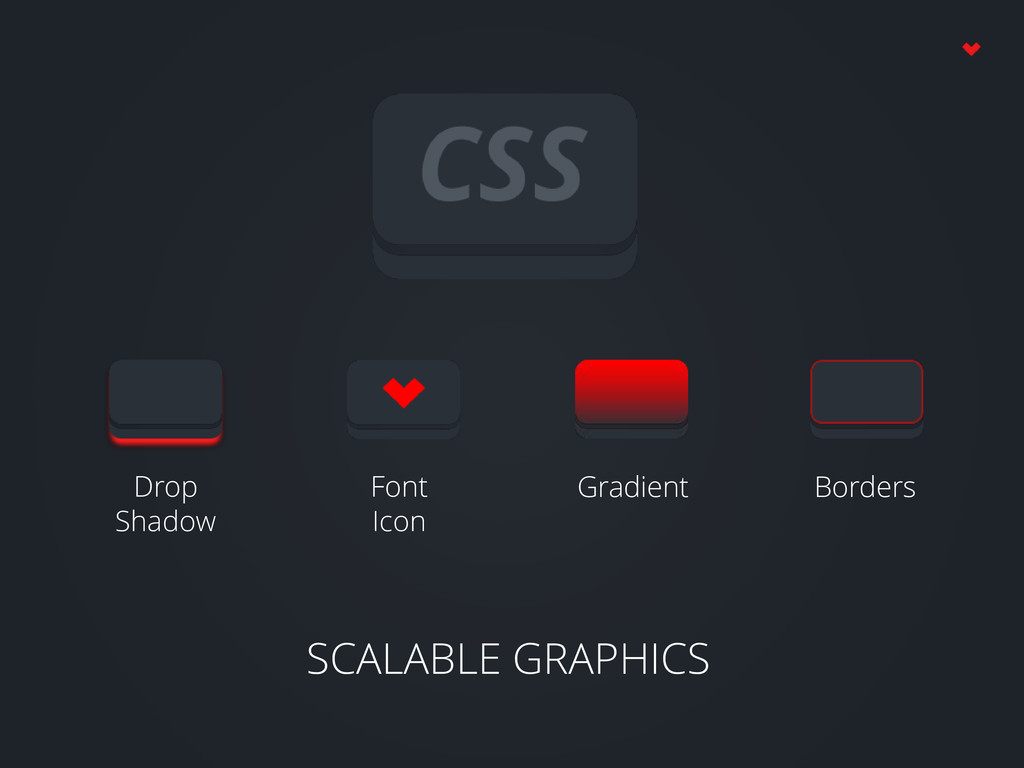 SCALABLE GRAPHICS Drop Shadow Font Icon Gradien...