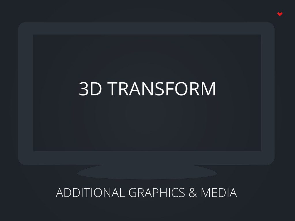 ADDITIONAL GRAPHICS & MEDIA 3D TRANSFORM