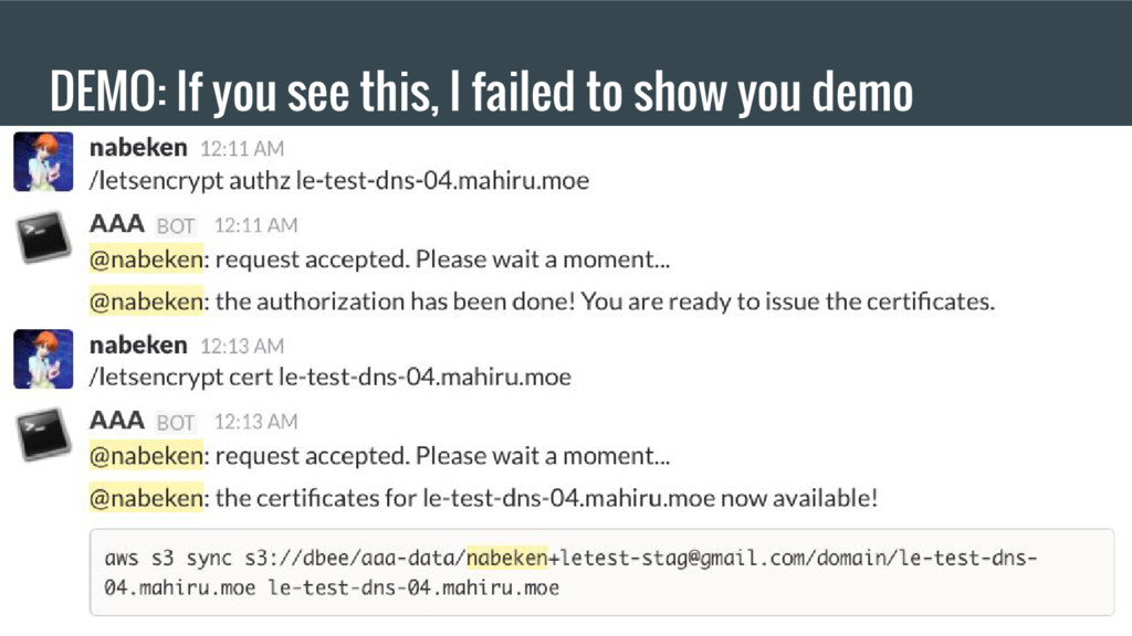 DEMO: If you see this, I failed to show you demo