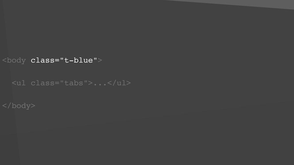 """<body class=""""t-blue""""> <ul class=""""tabs"""">...</ul>..."""