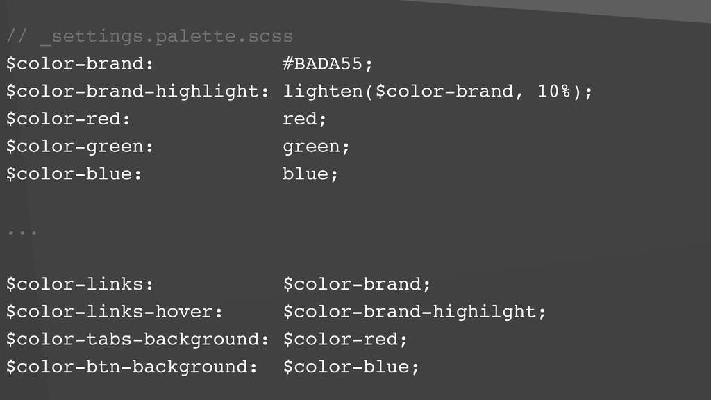 // _settings.palette.scss $color-brand: #BADA55...