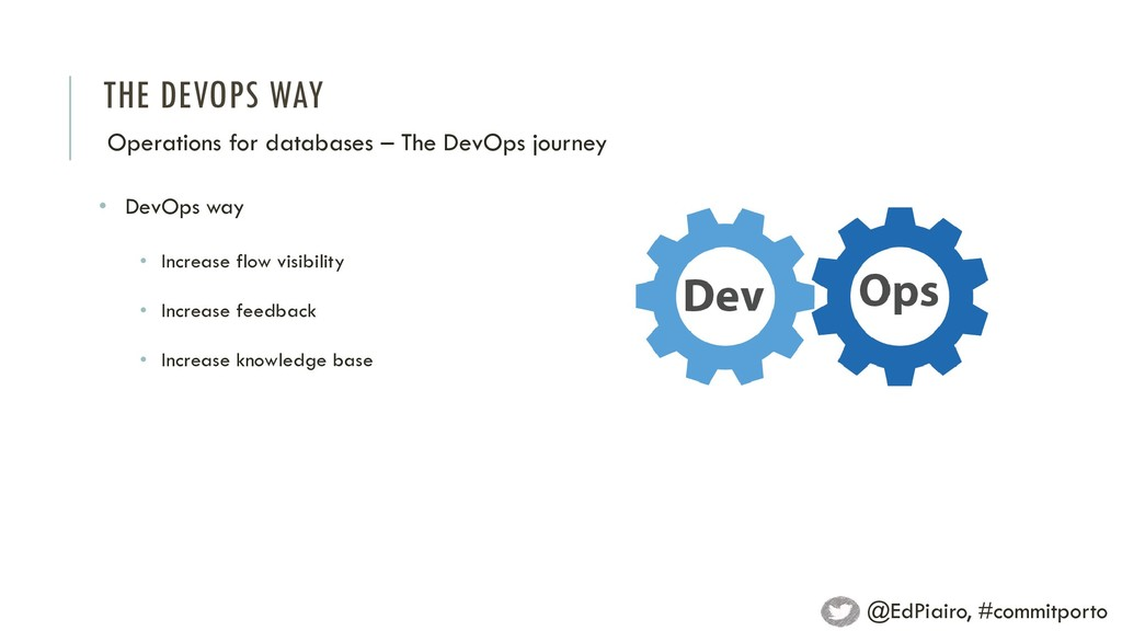 THE DEVOPS WAY Operations for databases – The D...