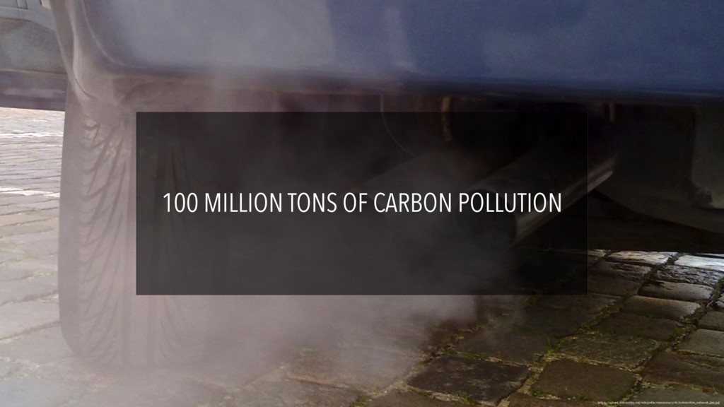 100 MILLION TONS OF CARBON POLLUTION https://up...