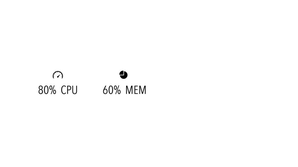 80% CPU 60% MEM  