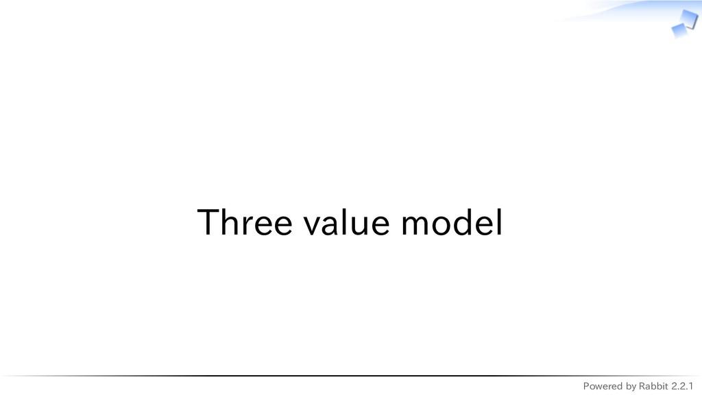 Powered by Rabbit 2.2.1   Three value model
