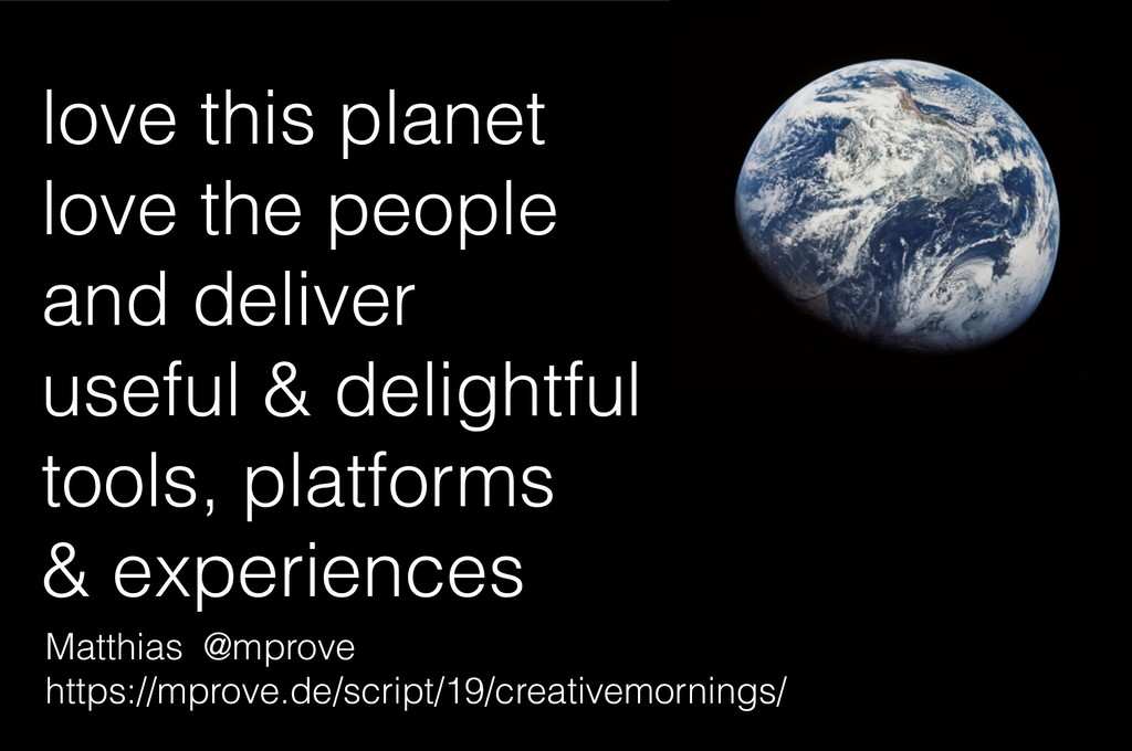 love this planet love the people and deliver u...