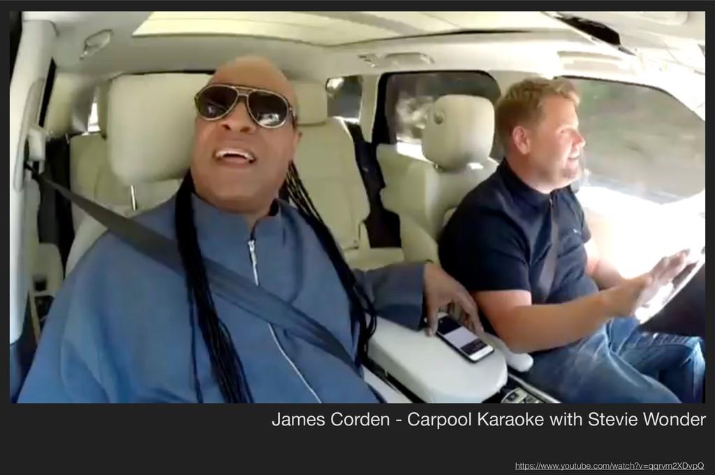 James Corden - Carpool Karaoke with Stevie Wond...