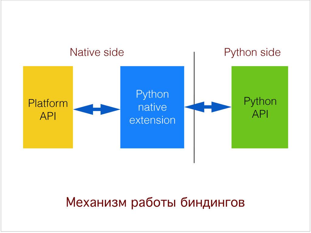 Механизм работы биндингов Platform  API Python...