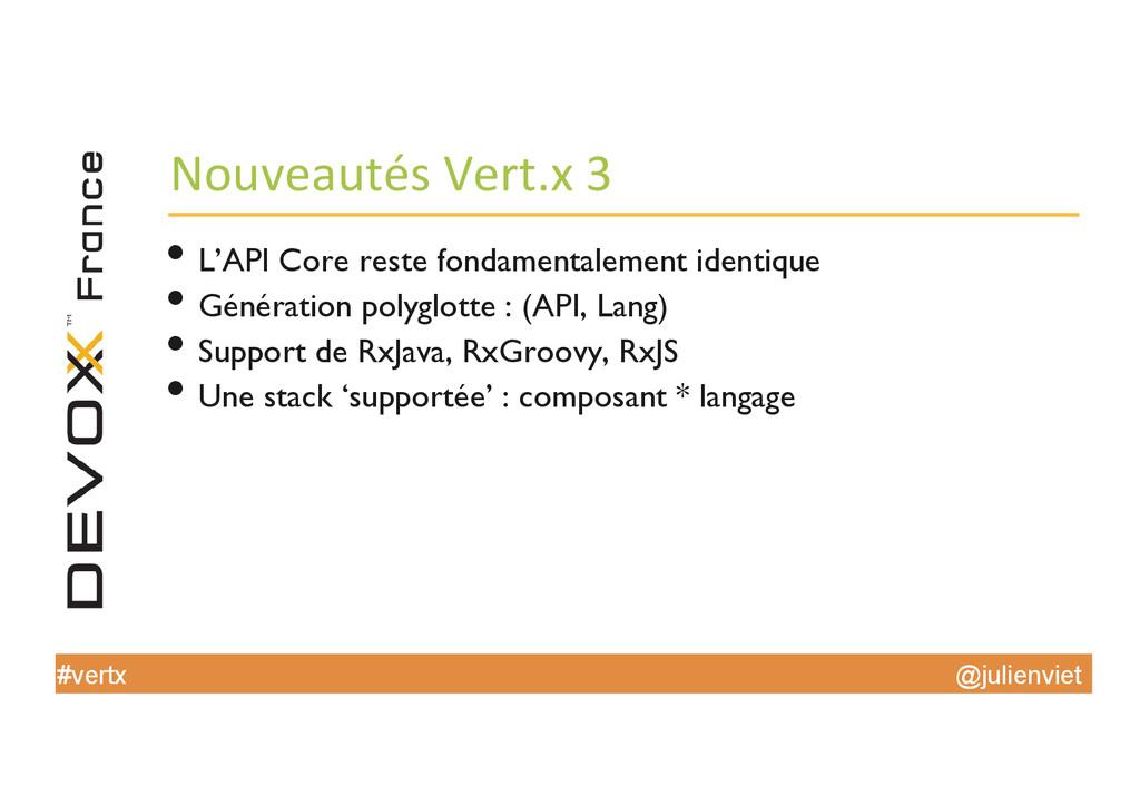 @julienviet #vertx Nouveautés Vert.x 3 ...