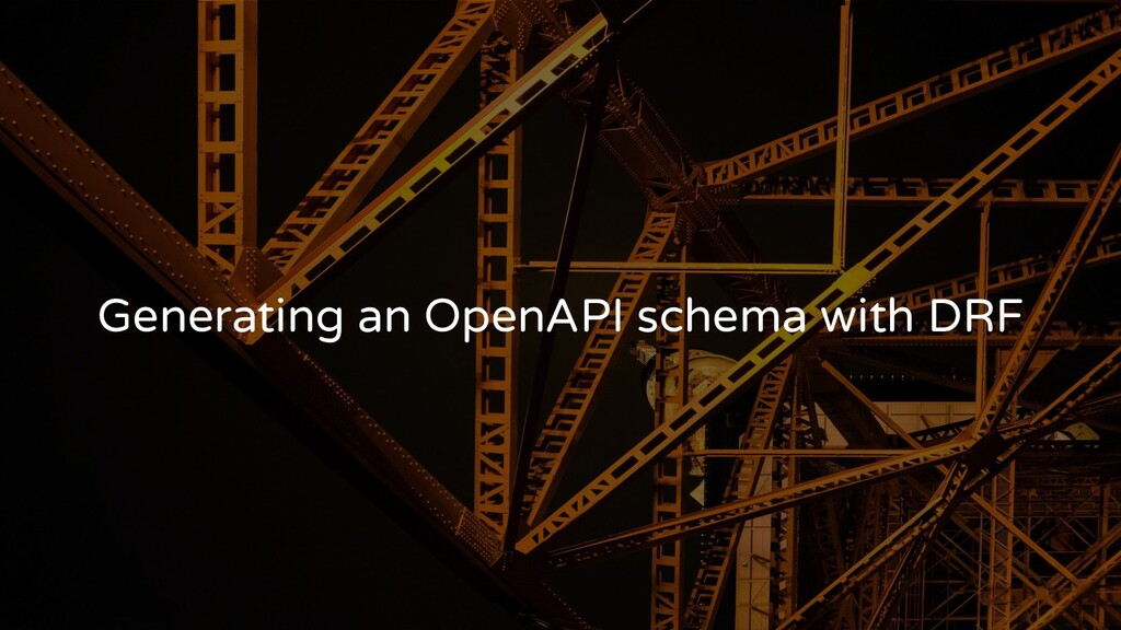 Generating an OpenAPI schema with DRF