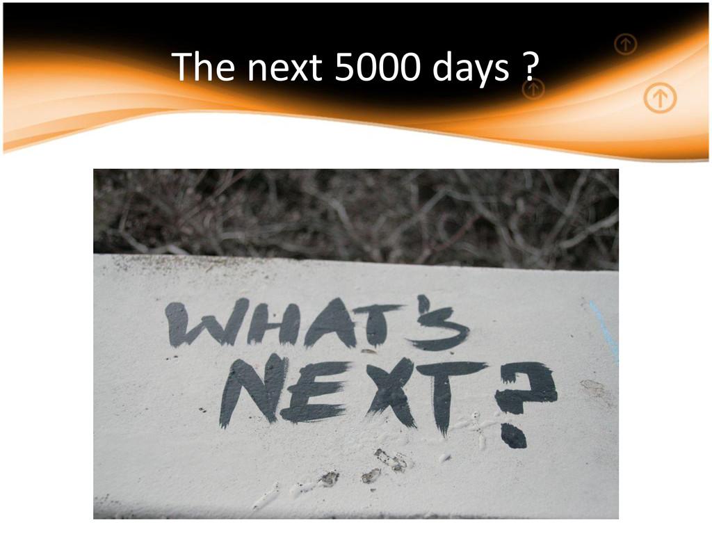 The next 5000 days ?